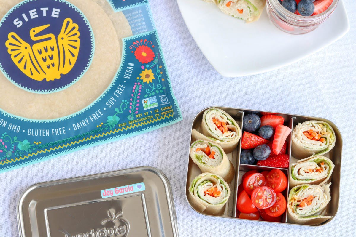 Turkey Wrap Pinwheels in bento box