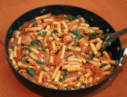chicken-sausage-and-veggie-pumpkin-pasta