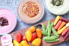 hummus-and-vegetable-spread