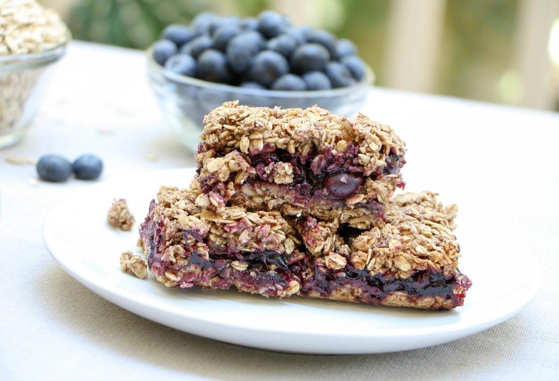 Blueberry Oat Squares (GF, DF)