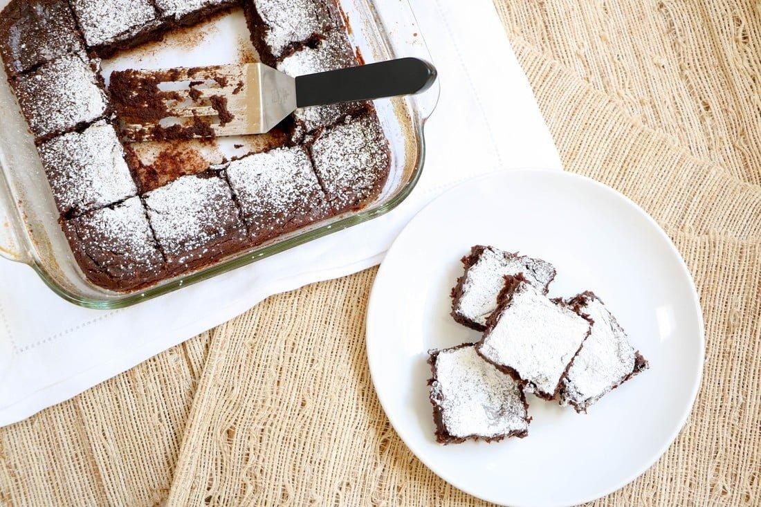 Fudgy Avocado Blender Brownies (GF, DF)