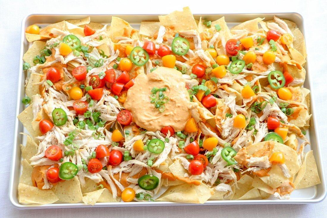 buffalo-hummus-chicken-nachos