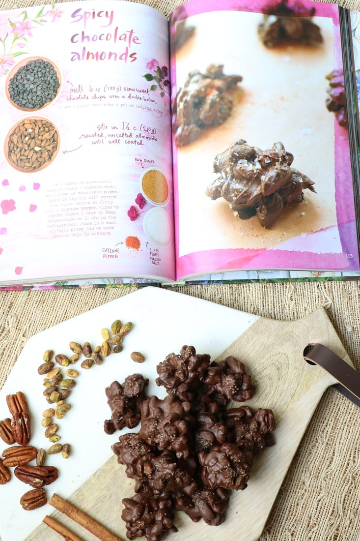 Cinnamon Sugar Chocolate Nut Stacks