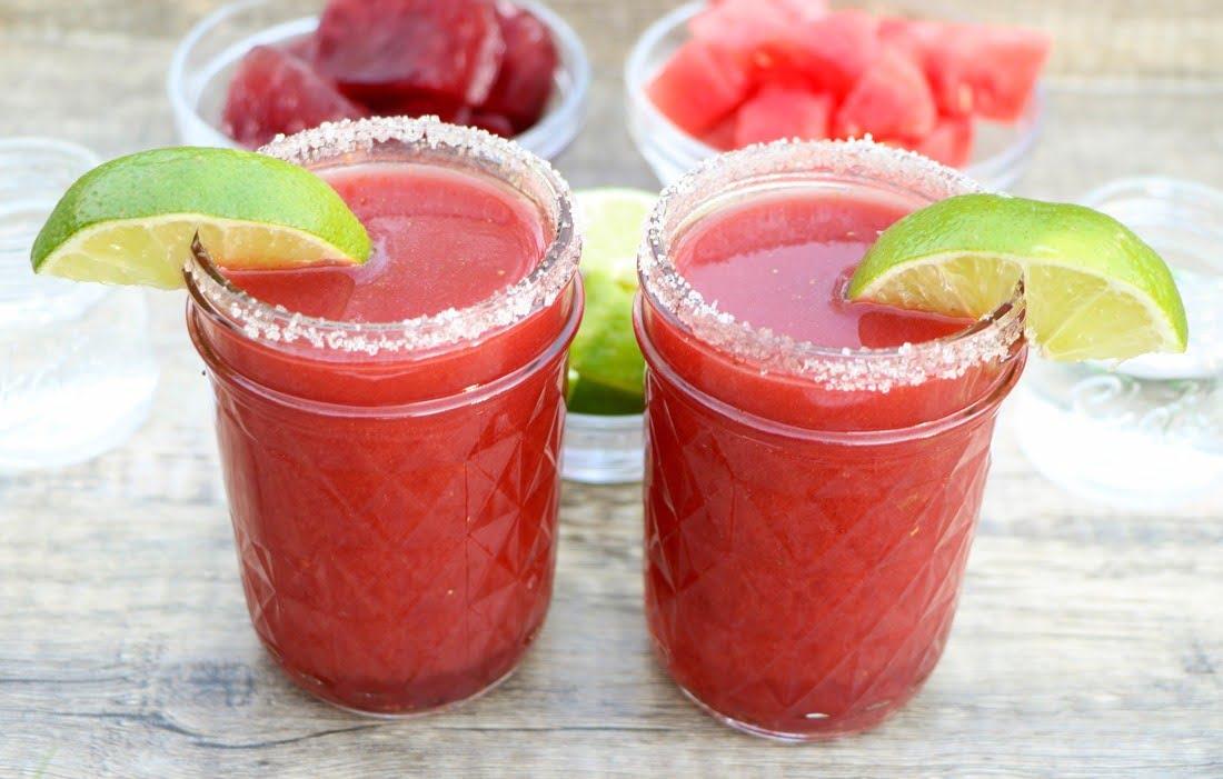 Watermelon Strawberry Pomegranate Margarita