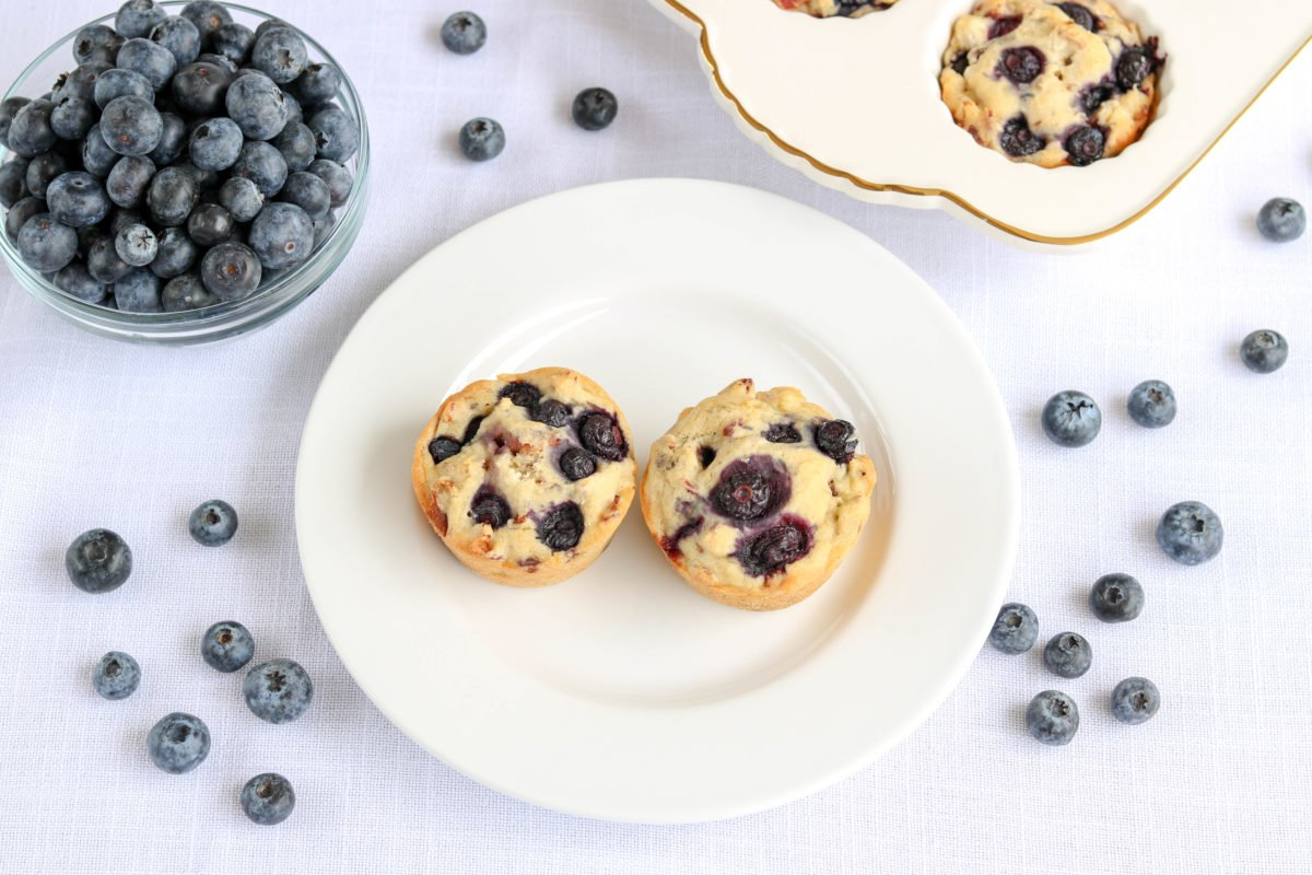 Gluten Free Blueberry Bacon Biscuit Muffins