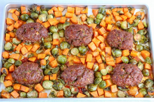 Maple-BBQ-Meatloaf-Sheet-Pan