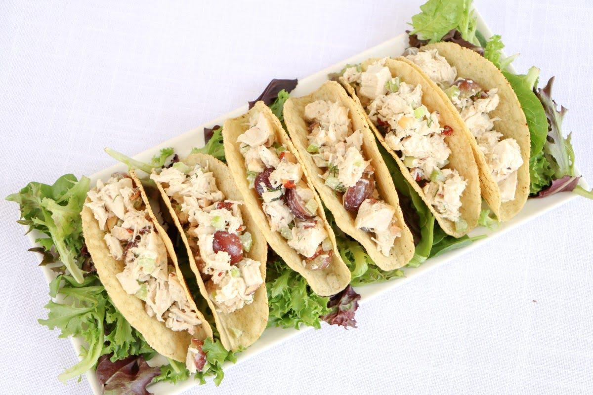 Chicken Salad Stuffed In Siete Foods Grain Free Taco Shells