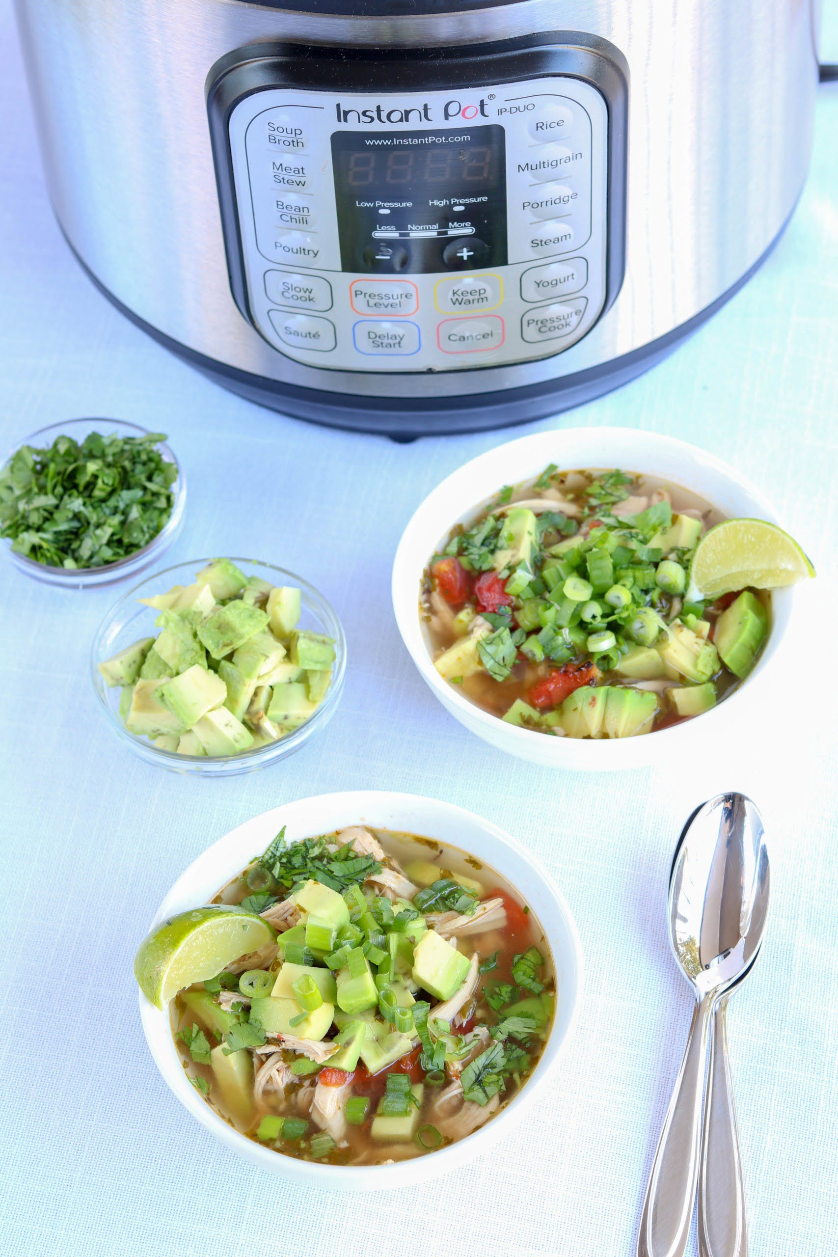Instant Pot Chicken Avocado Soup