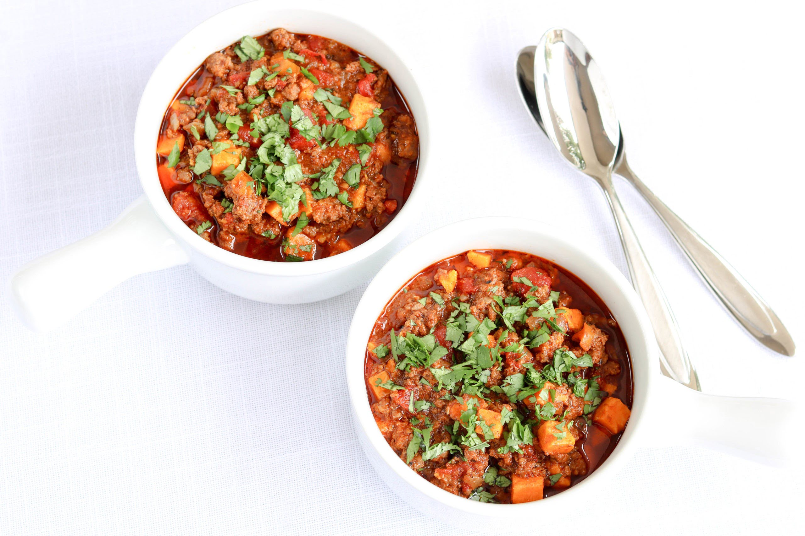 Instant Pot Beef and Sweet Potato Chili