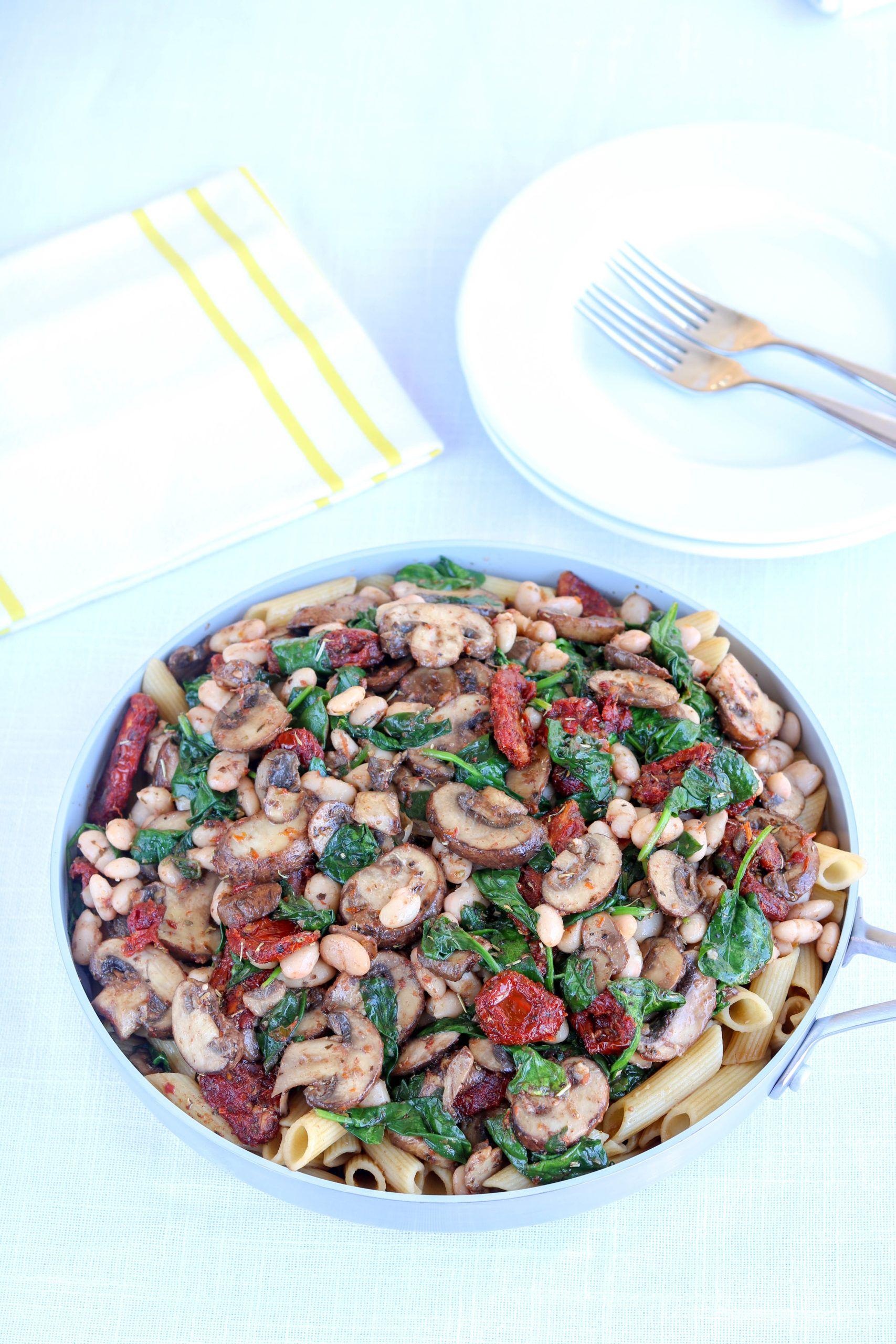 Meatless Mushroom Pasta
