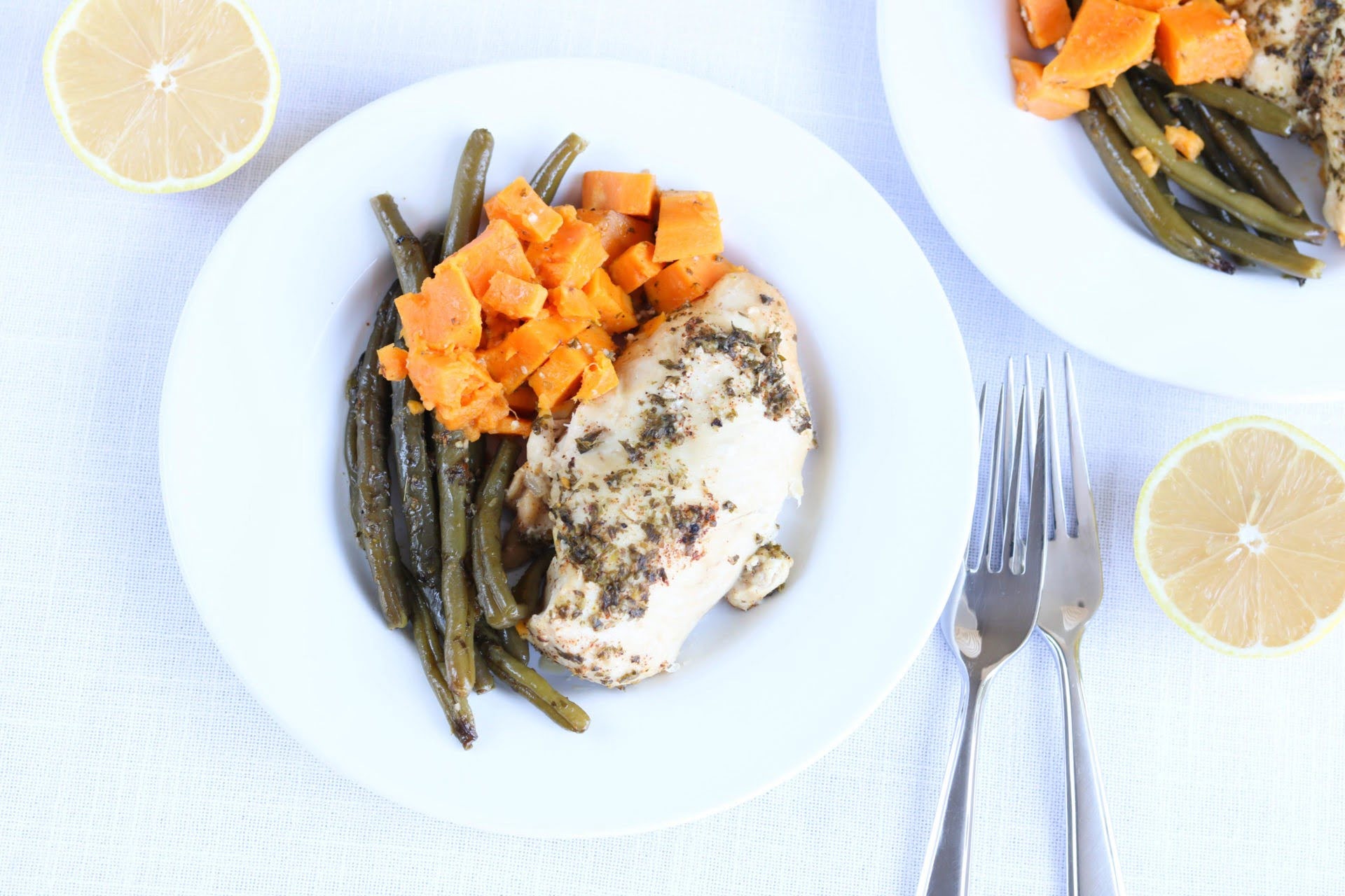 Crockpot Lemon Chicken And Herb Veggies