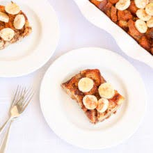 Banana Maple French Toast Bake