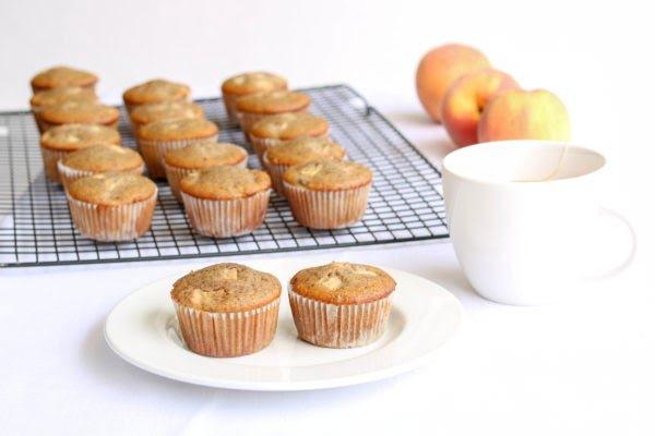 Easy Gluten-Free Peach Muffins