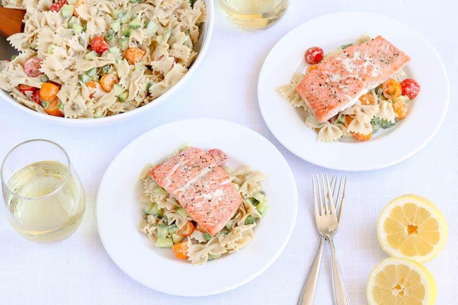 Gluten Free Pasta Salad with Salmon