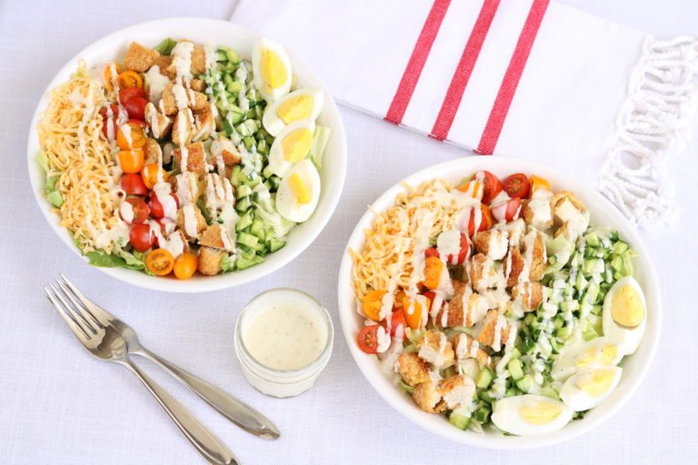 Easy Cobb Salad with Ranch Dressing