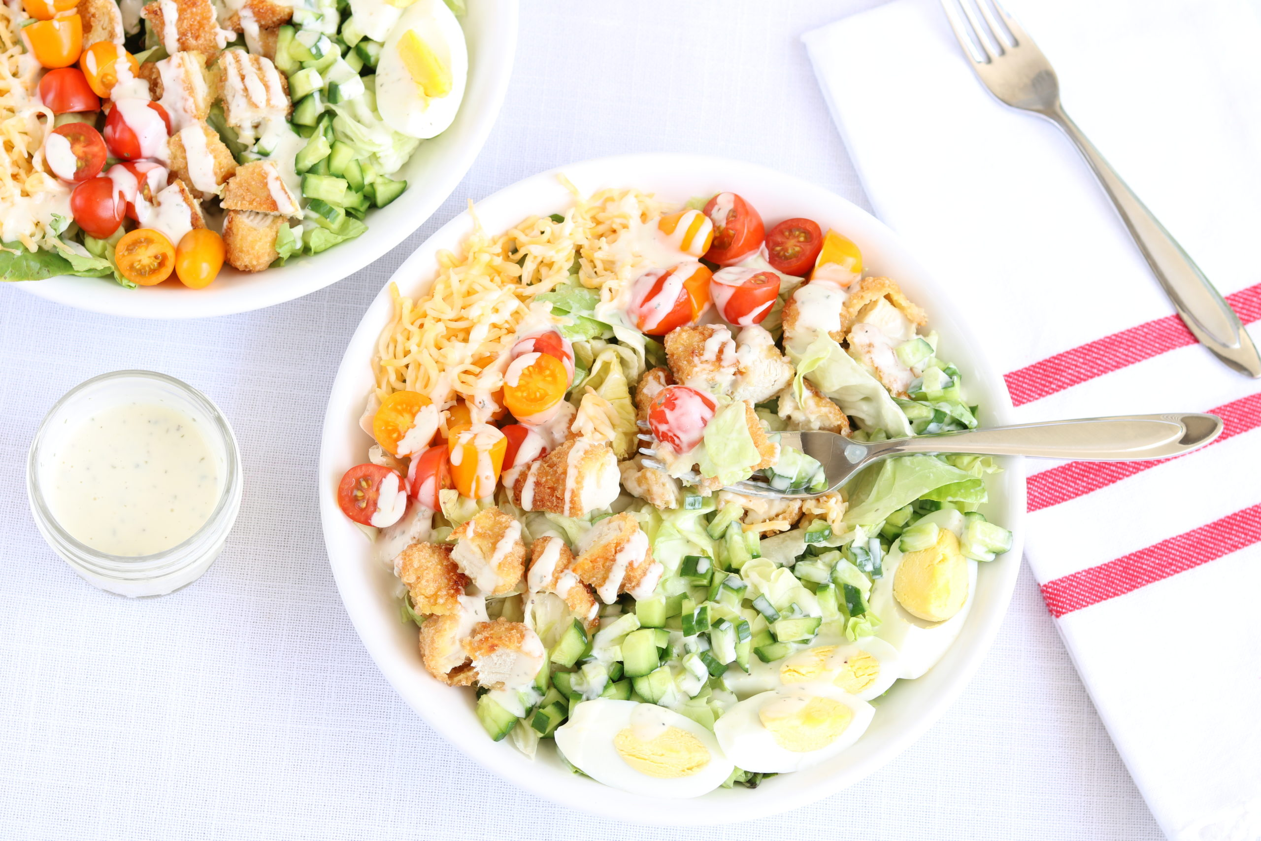 Gluten-Free Cobb Salad with Ranch Dressing