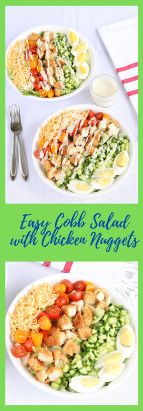 Easy Cobb Salad with Chicken Nuggets