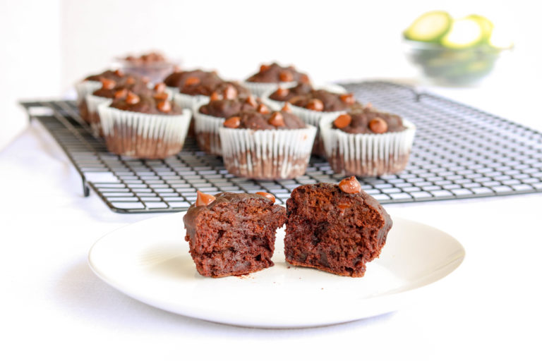 Double Chocolate Muffins with Hidden Zucchini