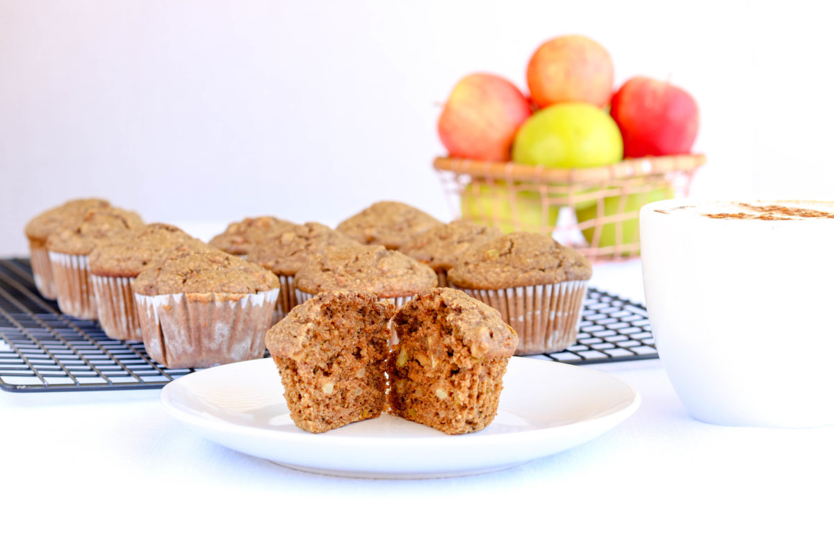 Gluten Free Chai Apple Muffins with Granny Smith Apples