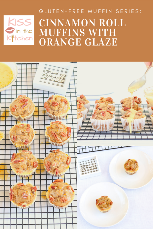 Cinnamon Roll Muffins with Orange Glaze (Gluten-Free)