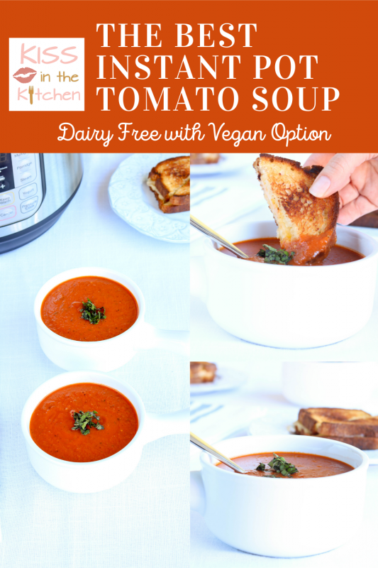 Creamy Tomato Soup Dairy Free with Vegan Option