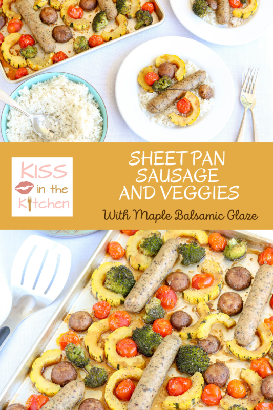 Sheet Pan Sausage and Veggies with Maple Balsamic Glaze