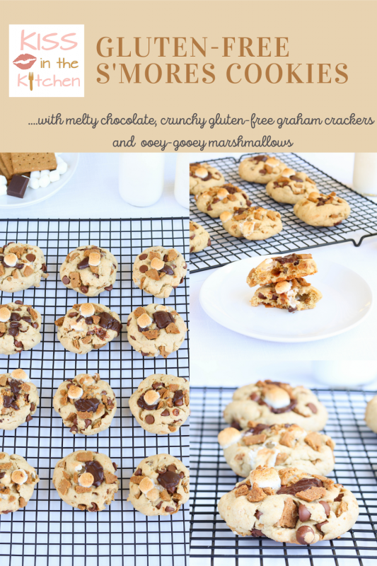 Gluten-Free S'mores Cookies Pin for later