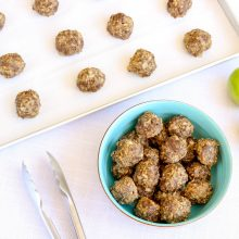 Breakfast meatballs with lean ground beef and granny smith apples